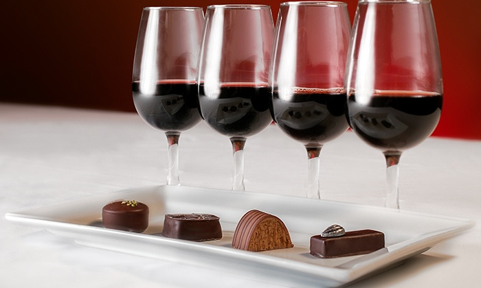 Chocolate with wine