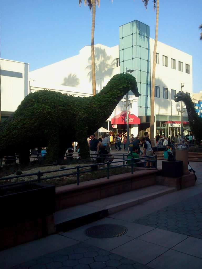 santa monica shopping area, Third Street Promenade