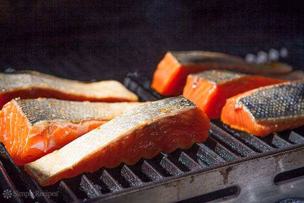 Place the Salmon on the grill