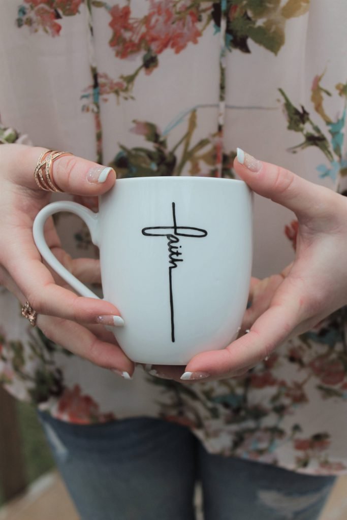 DIY temporary tattoo mug